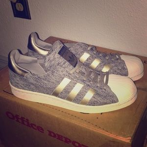 Adidas Superstar Primeknit BB8973 Gray Silver